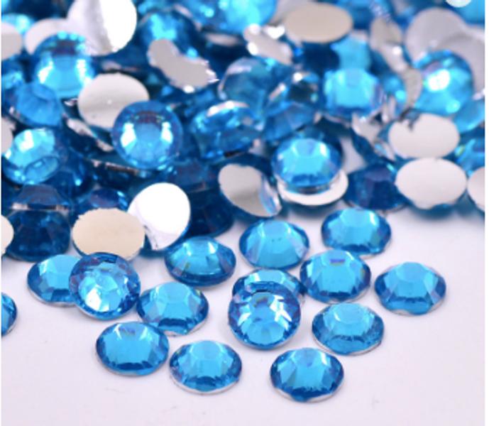 Rhinestones, 1000 stk blue zircon