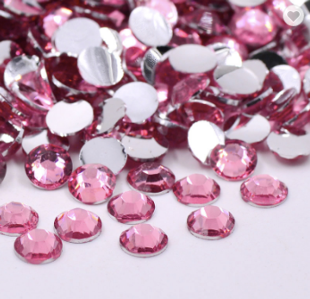 Rhinestones, 1000 stk dark pink