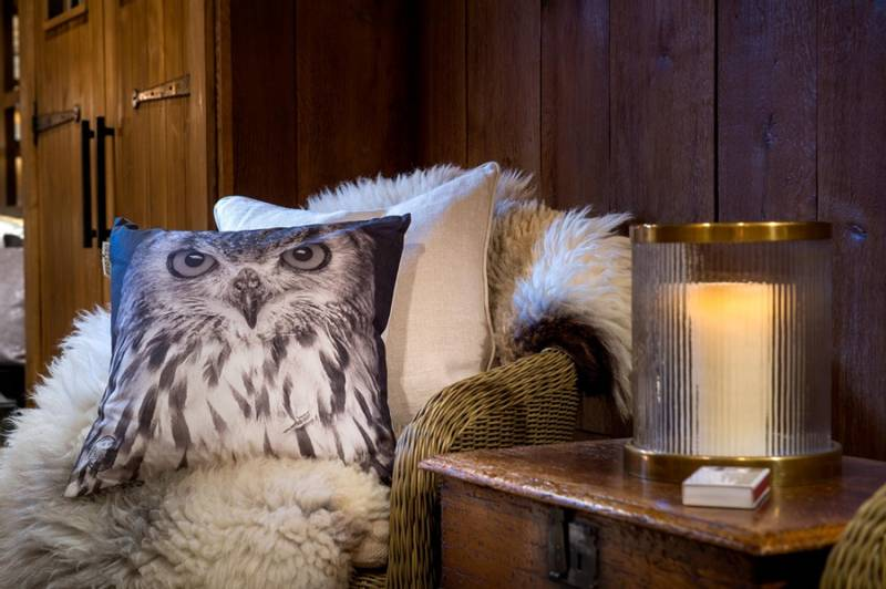 "Barfota, pute ""owl""  50X50 cm"