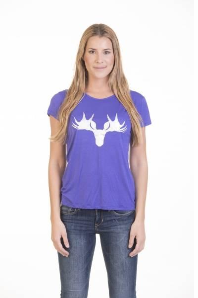 Barfota , moose t-shirt purple