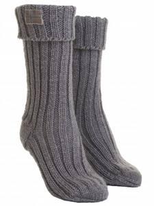 Bilde av Barfota,knitted socks grey